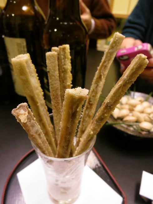 Fried burdock root.