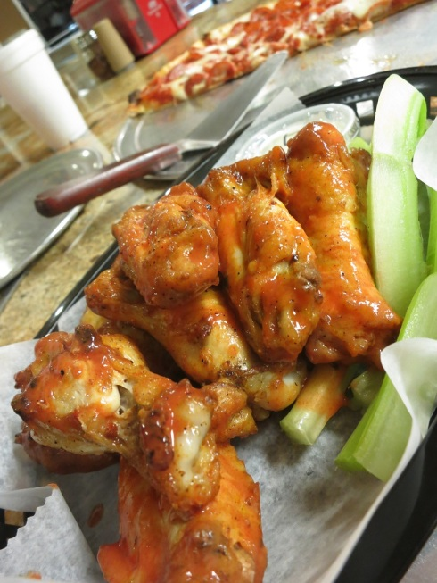 The wings are also great.  These are just buffalo, but if you like spicy, try the pineapple habanero.