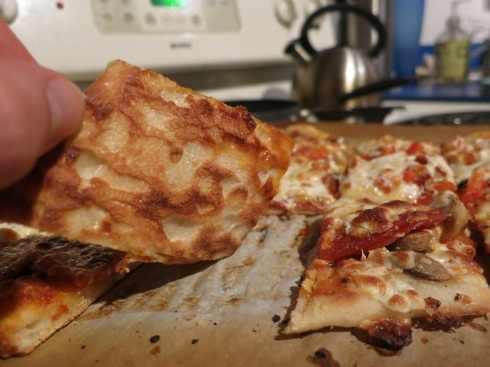 Thanks to the baking steel, the bottom of the crusts was a perfect combination of light and dark.