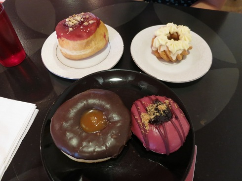 The four donuts that we (regretfully) limited ourselves to.