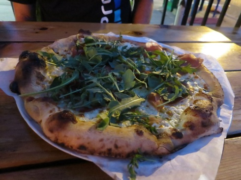 The Iowan -- prosciutto, ricotta, mozzarella, garlic confit and arugula