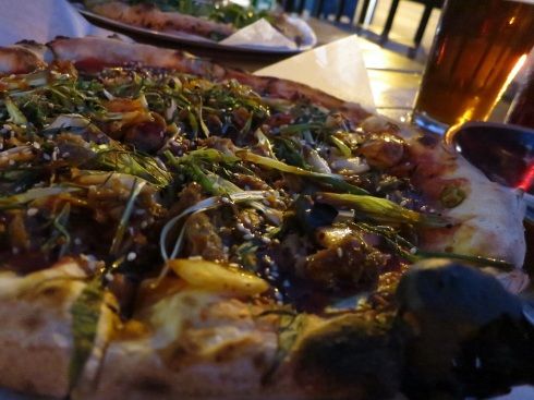 The Lady ZaZa pizza, my favorite of the ones we tried.