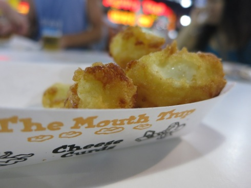 Cheese curds from the Mouth Trap.  Get it? The mouth trap??? It's a pun.  Because, you know, mice like cheese. :)