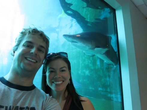 Our shark selfie.  (A sharkie?)