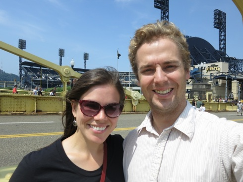 I told you Tania was really into selfies on this trip.  Here we are outside of PNC Park.